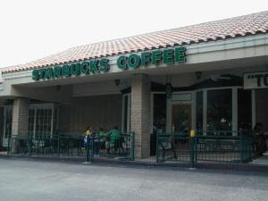I found this picture of my local Starbucks coffee shop and had to share it. I'm so proud!