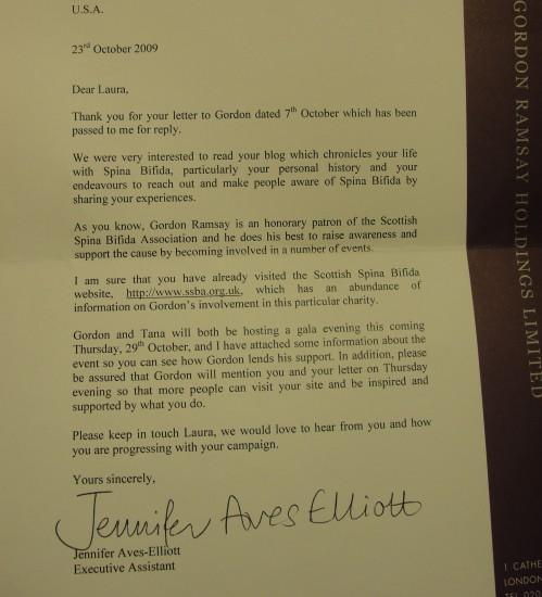 Gordon's letter
